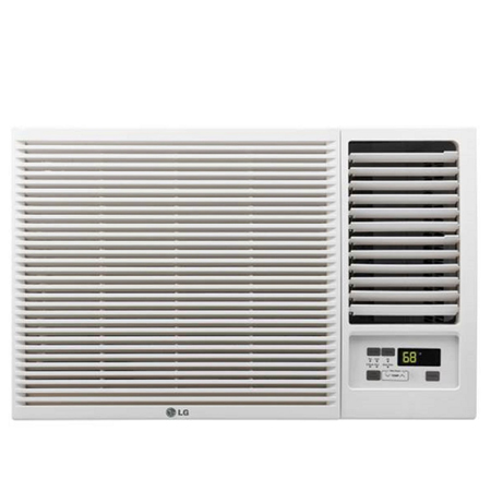 LG LW8016HR 7,500 115V Window-Mounted 3,850 BTU Supplemental Heat Function Air Conditioner