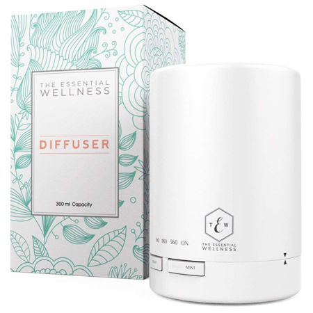 Essential Wellness Essential Oil Diffuser and Aromatherapy Diffuser