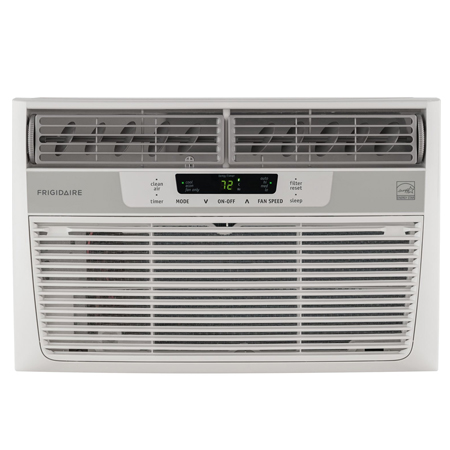 Frigidaire FFRE0833S1 8,000 BTU 115V Window-Mounted Mini-Compact Air Conditioner with Temperature-Sensing Remote Control