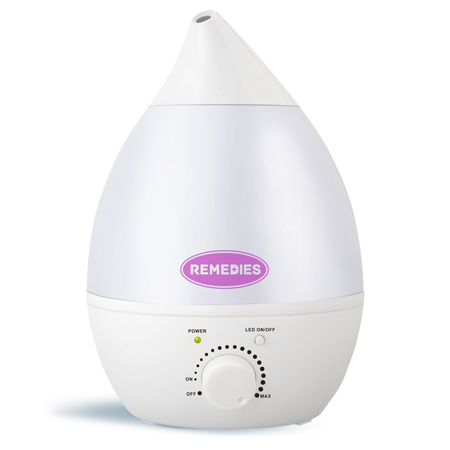REMEDIES Ultrasonic Cool Mist Humidifier